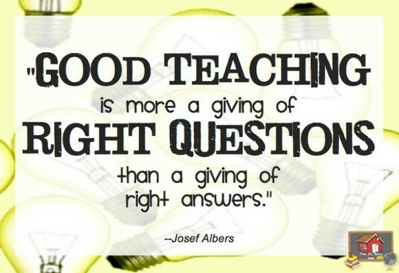 Good teaching is more about...